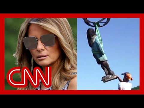 CNN: Melania Trump statue removed after being set on fire