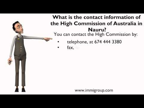 What is the contact information of the High Commission of Australia in Nauru?