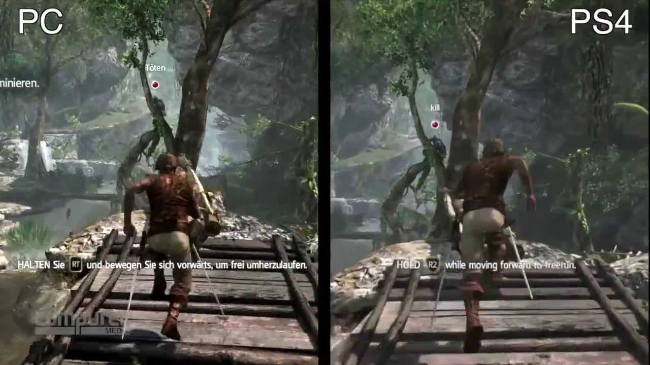 Assassin S Creed 4 Black Flag Ps4 Versus Pc Gameplay Grafik