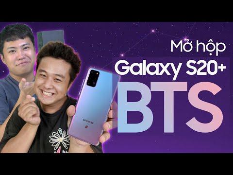 Mở hộp Galaxy S20+ BTS cực đẹp và gặp 7 thành viên ngoài đời thực