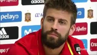 Gerard Pique left the press conference on the pretext that he needs to eat 04 10 2017