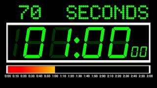 3 Minutes Countdown Digital Version , Remix BBC Countdown , 50FPS