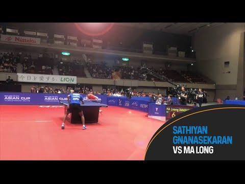 Download Sathiyan Gnanasekaran takes on current World & Olympic Champion Ma long.