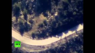 Видео Минобороны РФ ВКС РФ уничтожили опорный пункт ИГИЛ в Латакии Сирия война