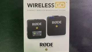 Rode Wireless Go Unboxing
