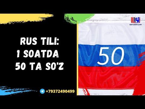 RUS TILI: 1 SOATDA 50TA SO'Z