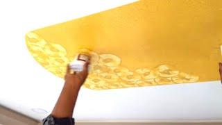 Asian paints & mettalic paint sealing p o p design