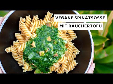 ???? Vegane Spinatsoße mit Räuchertofu  - Teaser