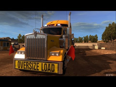American Truck Simulator - All Terrain Crane - Heavy Cargo Gameplay (PC HD) [1080p60FPS]