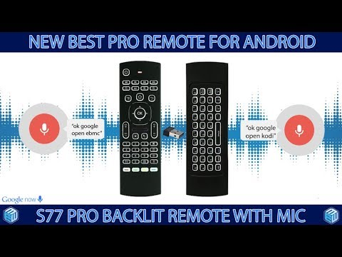 New S77 PRO, voice remote control Keyboard for Android box, Nvidia shield,  Windows, Mac