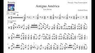 [PDT] Los Jaivas - Antigua América Partitura De Batería Gratis (Actualizada En La Descripción)