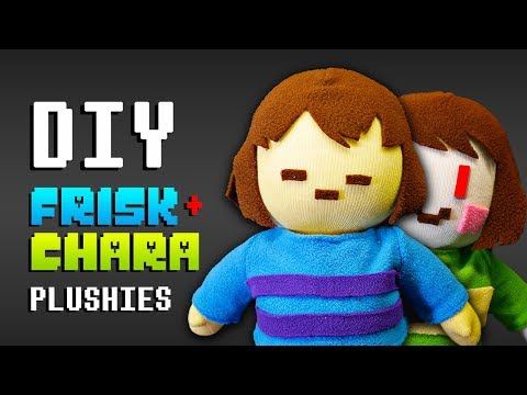 DIY UNDERTALE FRISK and CHARA Plushies! Undertale Sock Plushie (FREE Pattern) Tutorial