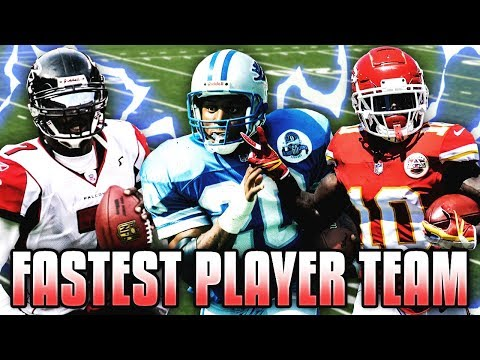FASTEST PLAYER TEAM! NFL'S ELITE SPEEDSTERS! Madden 19 Ultimate Team