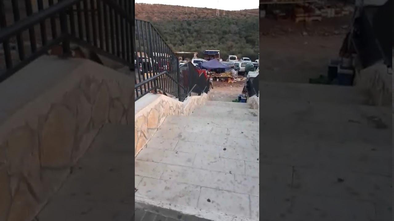 צפו: המדרגות שבנה המנהל האזרחי לטובת הערבים במתחם הבלתי חוקי