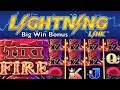 LIGHTNING LINK Slot Machine - TIKI FIRE - Very Big Win Bonus - Aristocrat Pokies Merkur Spielhalle