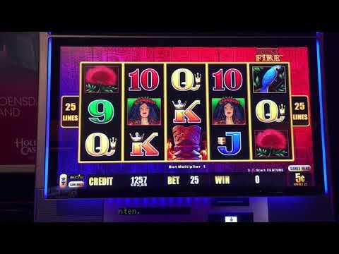 LIGHTNING LINK Slot Machine - TIKI FIRE - Very Big Win Bonus - Aristocrat Pokies 번개 링크 슬롯 머신