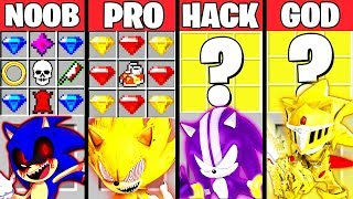 Minecraft Battle: SONIC THE HEDGEHOG MOVIE CRAFTING CHALLENGE NOOB vs PRO vs HACKER vs GOD Animation