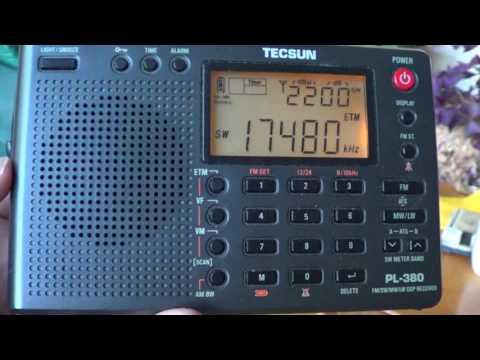 Cuban Numbers HM01 on Tecsun PL 380 Receiver 17480 Khz