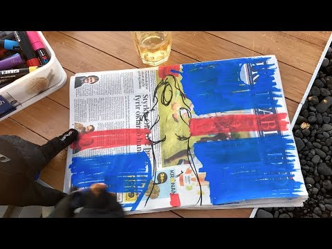 Art on ICELAND / Artist Richard Scott live painting on Iceland Highlands!