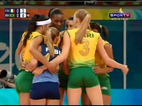 Beijing 2008 Women's volleyball Brazil-Italy and Russia-Serbia
