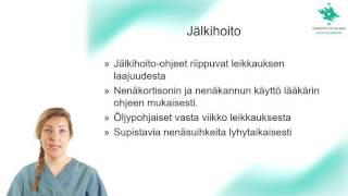Nenän väliseinäleikkaus - tietoa potilaalle