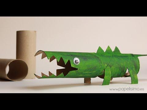 Cocodrilo manualidades con rollos papel higi nico youtube - Manualidades con rollos de papel higienico para navidad ...