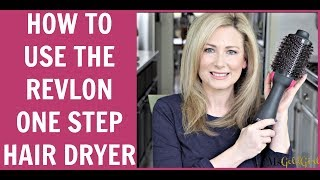 How To Use The Revlon One Step Hair Dryer | MsGoldgirl