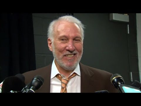 Gregg Popovich all laughs with the media after getting ejected | ESPN