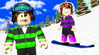Roblox - MURDER SNOWBOARD COM A JULIA MINEGIRL
