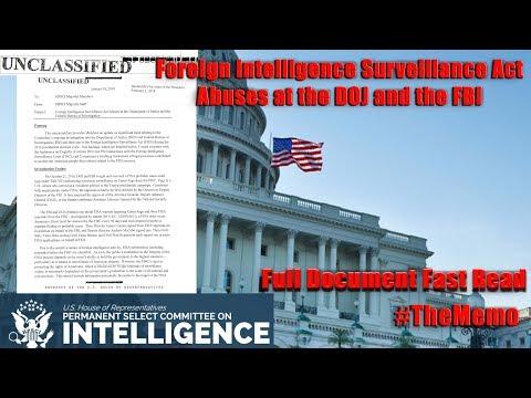 The Memo Fast Read | HPSCI: FISA Abuses at the DOJ & the FBI Declassified