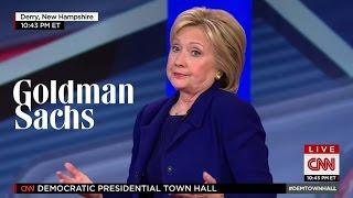 Hillary Clinton Shrugs Off $675,000 Goldman Sachs Speeches