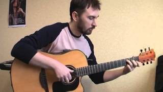 """""""Місця щасливих людей"""" - Скрябін   фингерстайл кавер на гитаре"""