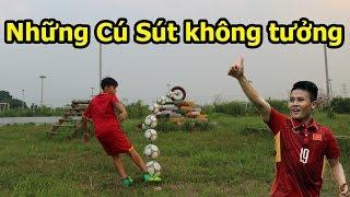 Thử Thách Bóng Đá Quang Hải Nhí VS Đỗ Kim Phúc thi sút Penalty hài hước nhất Việt Nam