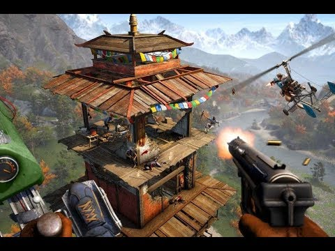 Falcon Paladin Far Cry 4 Stream Part 7! Incredibly skilled whirlybird flying!
