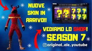 FORTNITE LIVE ITA - SHOP 23 DECEMBER SEASON 7 NEW SKIN NATALIZIA !!!!!