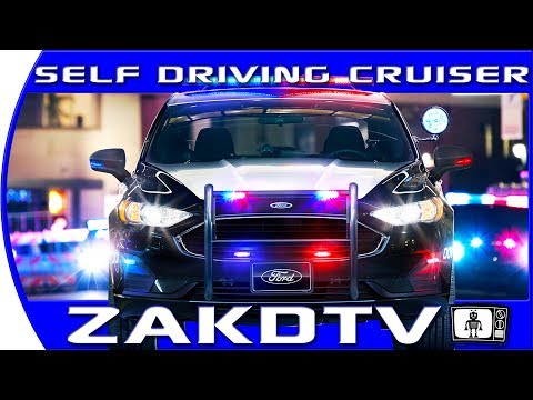 AUTONOMOUS POLICE CAR that can give YOU tickets. Ford patents self driving cop car