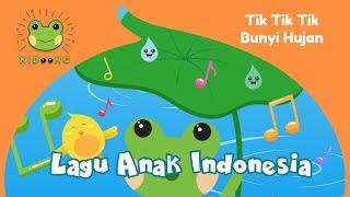 TikTik Bunyi Hujan | Lagu Anak Indonesia Populer | Kidoong Nursery Rhymes & Kids Songs