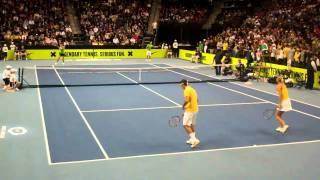 Federer Sharapova vs Nadal Azarenka - Clash of The Champions - part 1