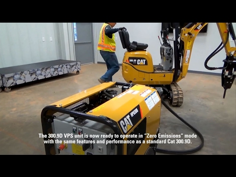 Setting Up the Cat® 300.9D Versatile Power System Mini Excavator with the HPU300