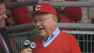 Reds fan Dollin attends 68th Opening Day