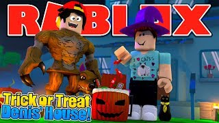 ROBLOX - TRICK or TREAT AT DENIS DAILY'S HOUSE!