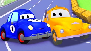 Tom the Tow Truck and the blue Racing Car in ...