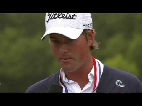 Jungle Bird Man Does US Open Golf Trophy Ceremony 2012. STOP Deforestation!