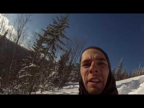 "Steep power lane on Timbersled Quebec 120"""