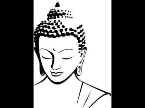 How to draw gautam buddha face drawing step by step