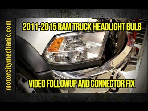 2017 Ram Truck Headlight Problem Video Followup And Connector Fix