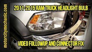 2011-2015 Ram truck headlight problem video followup and connector fix