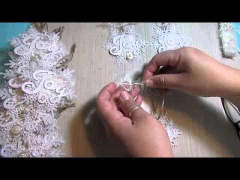 2014 Shabby Chic Christmas handmade ornaments!