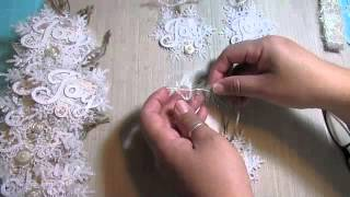 2014 Shabby Chic Christmas handmade ornaments!