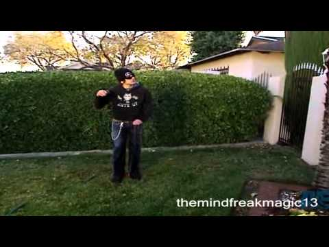 Criss Angel Mindfreak Splinkler levitation